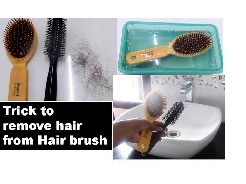 Trick to remove hairs from hair brush in 1 minute |