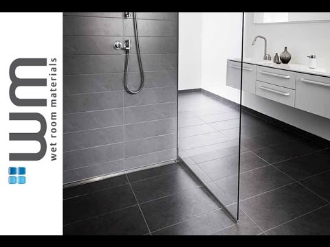 How to install a wet room and linear centre drain installation