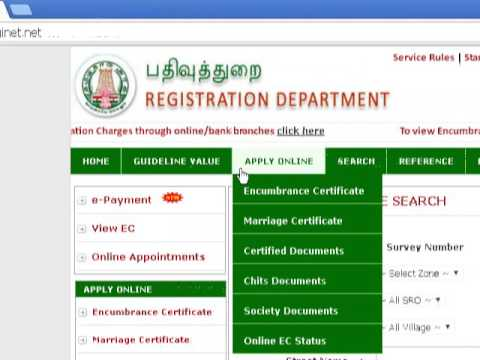 how to pay reg fees on online useing epayment in tnreginet?