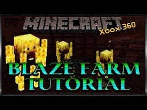 Minecraft xbox 360 Blaze xp farm