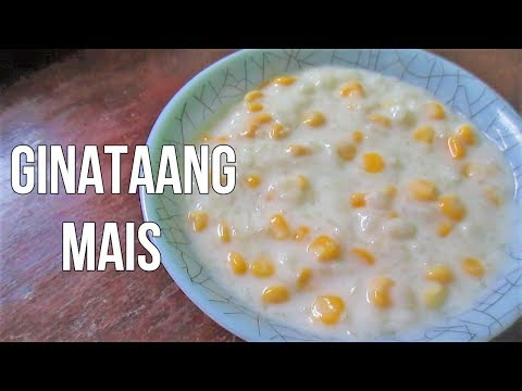 Ginataang Mais | Rice Pudding Corn with Coconut milk