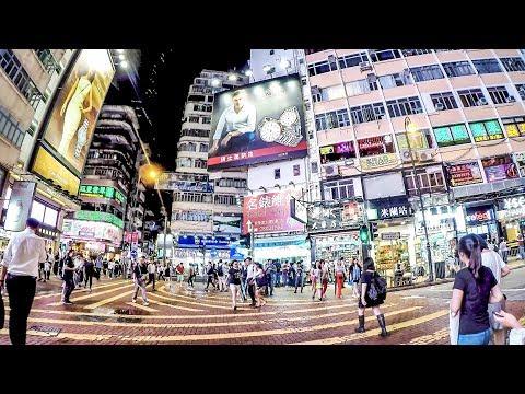 Hong Kong Night Walk Around Causeway Bay and Times Square