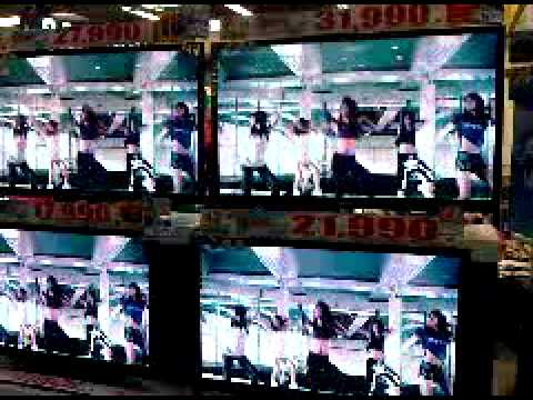 20110521 Hype Nation's teaser played at Samsung shop in Future Park Thailand