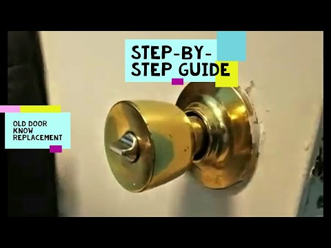 How to change a door Knob without visible screws?