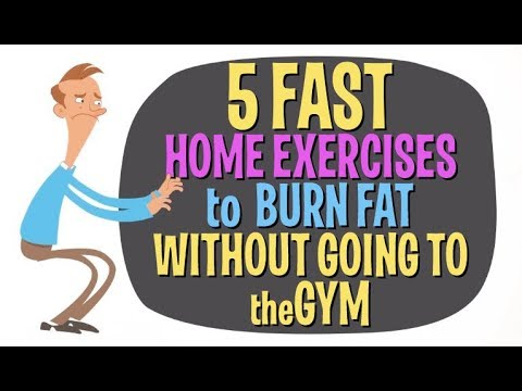 5 FAST Home Exercises To Burn Fat & Calories Without Going to the Gym