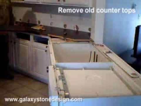 Granite Countert Top Install Demonstration