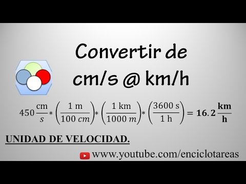 Convertir de cm/s a km/h (método facil)
