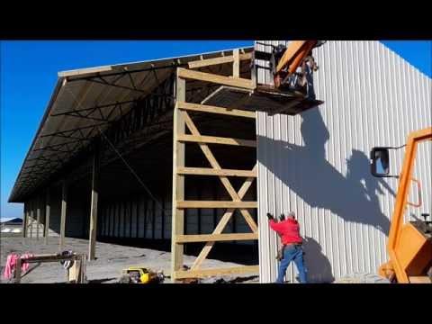 How to Run Metal Siding on a Pole Barn