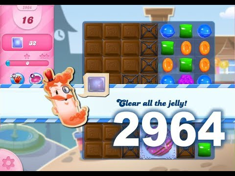 Candy Crush Saga Level 2964 (3 stars, No boosters)