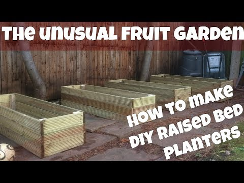 How To Make Raised Bed Planters From Decking  - DIY Bottomless Raised Bed Planter Build Video