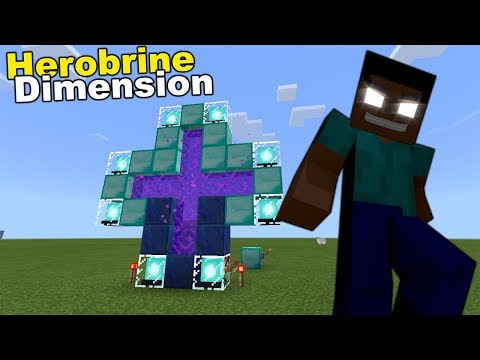 How to Go to the HEROBRINE DIMENSION | Minecraft PE
