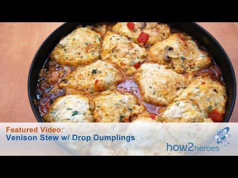 Venison Stew with Drop Dumplings