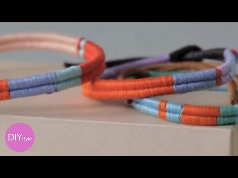Thread Wrapped Friendship Bracelets - DIY Style - Martha Stewart