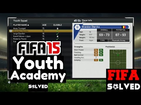 FIFA 15 Career Mode Youth Academy Players Solved