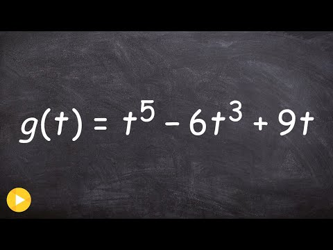Find the Zeros & Multiplicity of a Polynomial Function to Fifth Degree