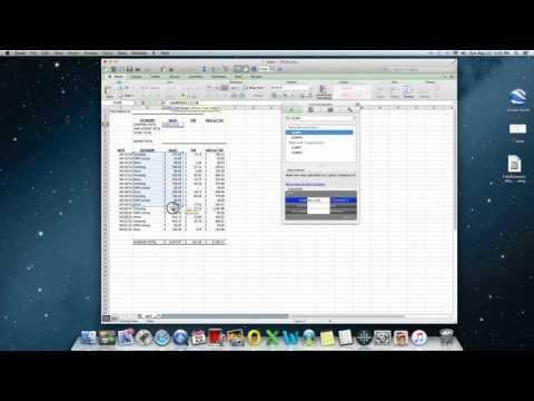 SUMIF FUNCTION IN MAC 2011 EXCEL