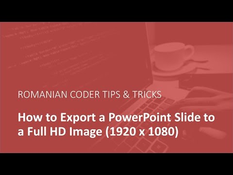 How to Export Power Point slides as Full HD Images (1920 x 1080)