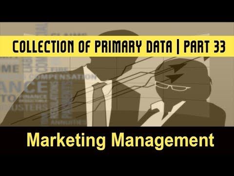 Marketing Management System | The Marketing Research Process | Collection of Primary Data | Part 33