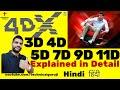 Hindi 3d 4d 5d 7d 9d 11d Explained In Detail  4dx Is Amazing