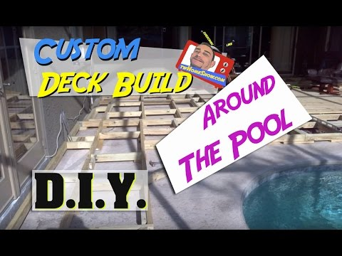 Build a Custom Wood Deck Around Your In Ground Swimming Pool