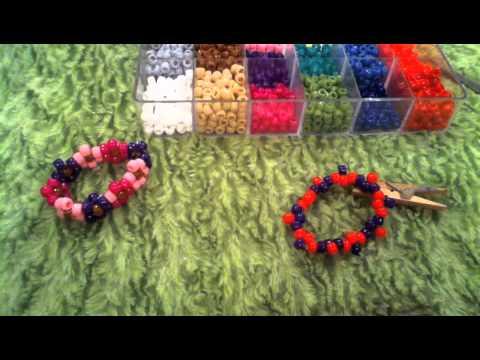 How to make a kandi/pony bead flower cuff