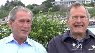 Bushes reflect on presidencies, endorse Romney