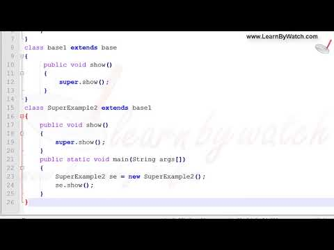 What is Super keyword (Example2) | Learn JAVA with Practical Examples | Vineet Agrawal