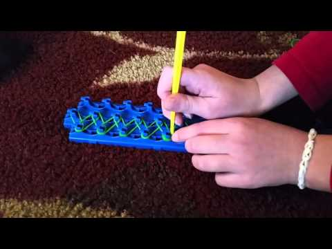 How to make a beginner crazy loom bracelet