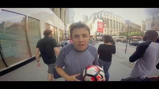 10 hours of walking in nyc with a soccer ball