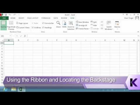Microsoft Office Excel 2013 Tutorial: Using the Ribbon and Locating the Backstage | K Alliance