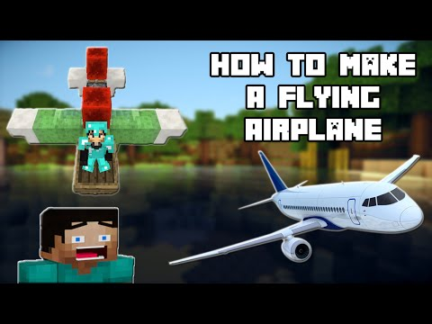 How To Make A Flying Airplane In Minecraft  ( No Mods )