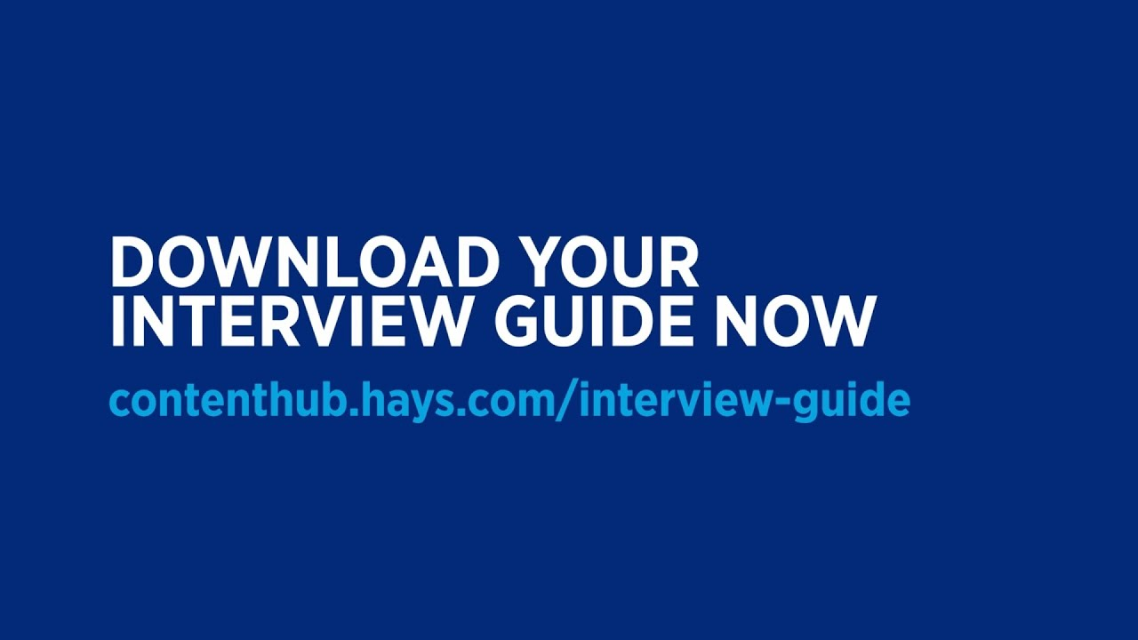 Your guide to a successful job interview