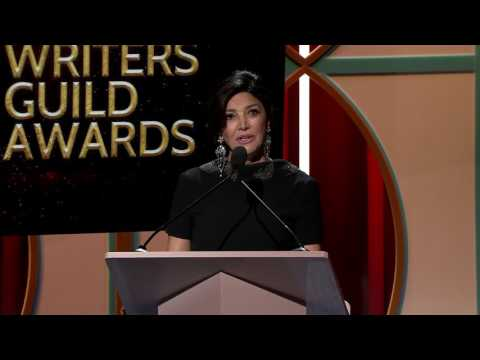 Shohreh Aghdashloo presents the 2017 Jean Renoir Award to the son of Abbas Kiarostami