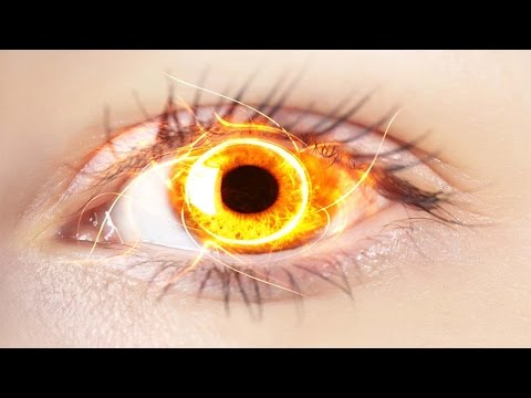 Photoshop Tutorial: How to make Evil Fire Eyes Photoshop - Fire eye