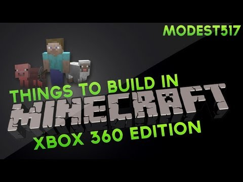 Things to build in Minecraft Xbox 360 edition, Episode 1. Simple Bench