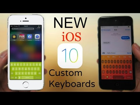 NEW iOS 10 - 10.3.3 Custom Keyboards - Change Keyboard Designs & Colors
