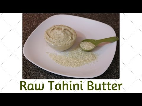 Raw Tahini Butter Alkaline Electric Recipe Dr Sebi Approved