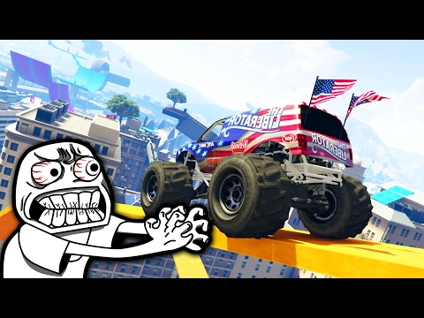 PARKOUR MONSTER TRUCK HARD - GTA 5 ONLINE