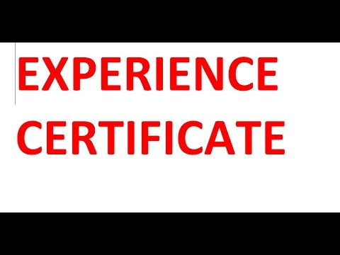 experience certificate in microsoft word l to whomsoever it may concern