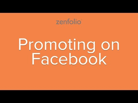 Promoting on Facebook - learn how to share your photos and blog post on Facebook