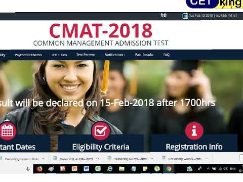 CMAT 2018 expected cutoffs and percentiles