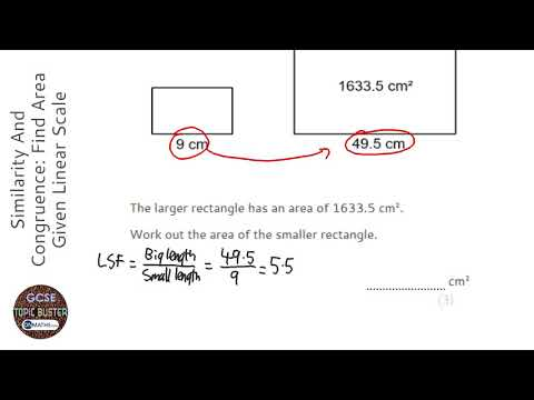 Similarity And Congruence: Find Area Given Linear Scale Factor (Find Smaller) (Grade 7) - GCSE Maths