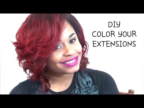 DIY: Red Hair Extensions  Part 1 o 4