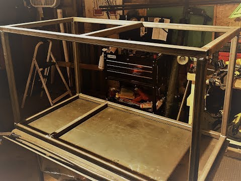 steel fish tank stand