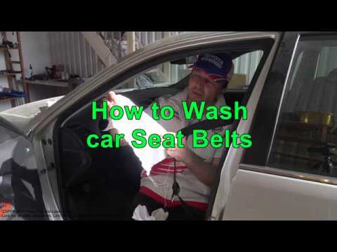 How to Wash car Seat Belts