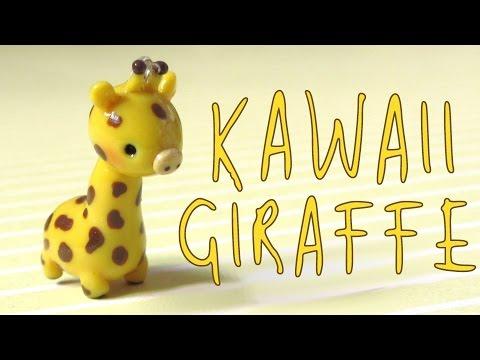 Kawaii Giraffe Charm Tutorial - Polymer Clay How-To.