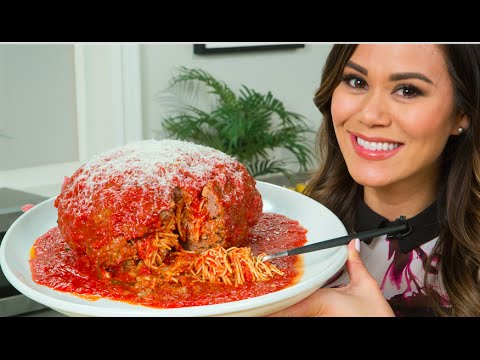 How to Make Giant Spaghetti-Stuffed Meatball | Eat the Trend