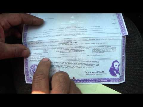How To Transfer A 1995 Car Title In Illinois - He Did Work For A Ford Explorer - Part 6