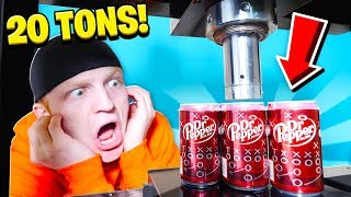 20 TON HYDRAULIC PRESS vs EXPLODING SATISFYING THINGS!
