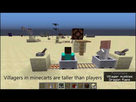 Villager in Minecart Detector (Minecraft 1.12 and others)
